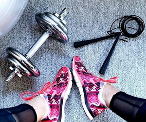 fitness, shoes, and motivation image