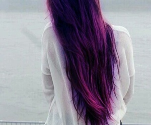 cabelo, roxo, and hair image