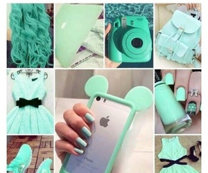 mint, green, and iphone image