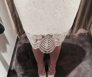 dress, sweet, and white image