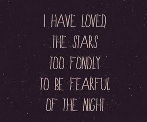 stars, fear, and night image