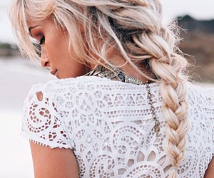 fashion, white, and hairstyles image