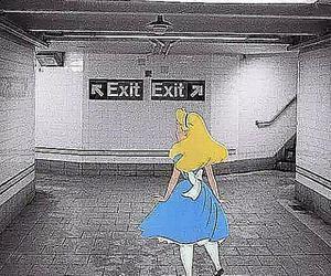 alice, exit, and disney image