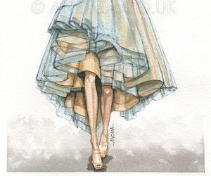 fashion, illustration, and dress image