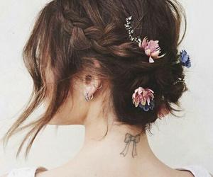beautiful, bow, and braid image
