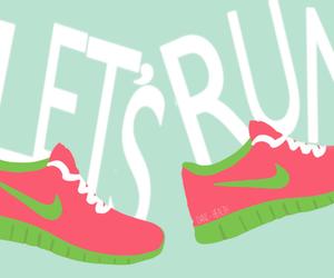 run, nike, and motivation image