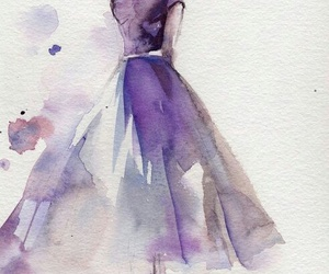 art, dress, and purple image