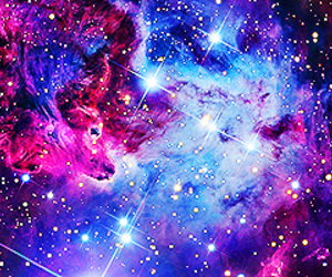 galaxy, colors, and space image