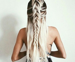 blond, blonde, and long hair image