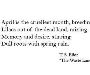 april, poetry, and quotes image