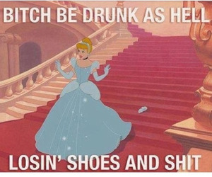 cinderella, drunk, and funny image
