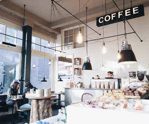 coffee, coffee shop, and interior image