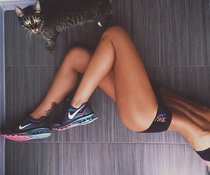 cat, fitness, and clothes image