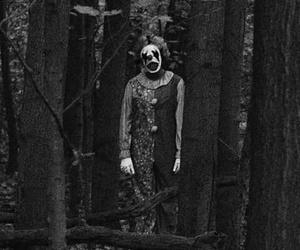 clown, horror, and dark image