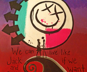 blink 182, blink-182, and jack and sally image