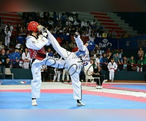 kick, win, and taekwondo image