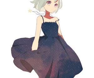 anime girl, anime, and dress image