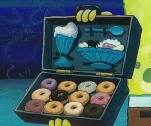 donuts, spongebob, and cartoon image