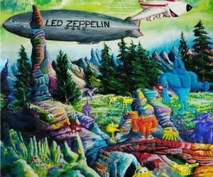 led zeppelin and trippy image