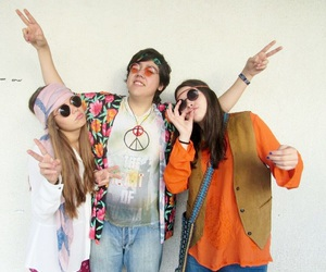 happy, hippie, and love image