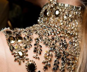 dress, gold, and ralph lauren image