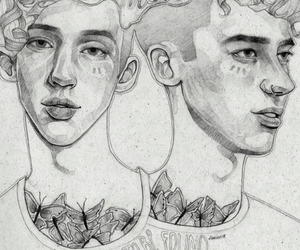 drawing, troye sivan, and olly alexander image
