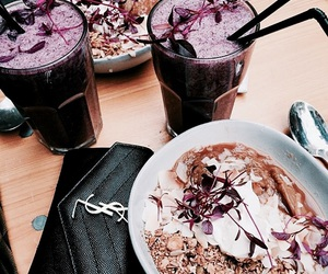 food, purple, and drink image
