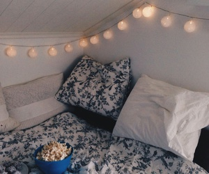 bedroom, inspiration, and popcorn image