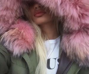 pink, blonde, and fur image