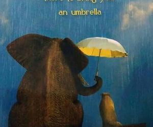 friendship, quote, and umbrella image