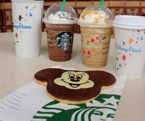 biscuit, disney, and starbucks image