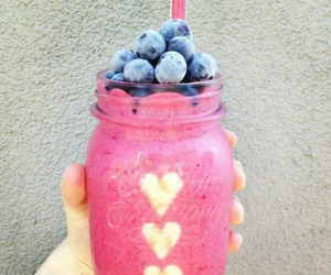 food, pink, and fruit image