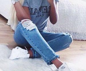 fashion, jeans, and nike image
