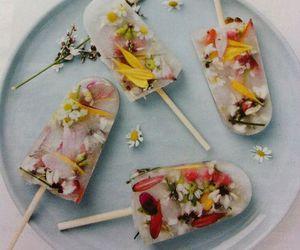 flowers, ice cream, and ice image
