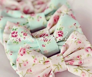 bow, floral, and pastel image