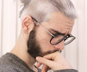hipster, men, and white hair image