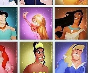 comedy, disney, and villains image