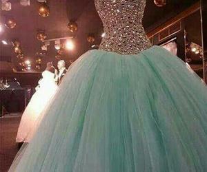 dress, blue, and amazing image