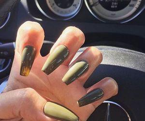 nails, green, and car image