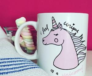 mug, unicorns, and unicornio image
