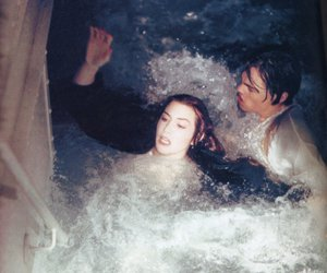 titanic and water image