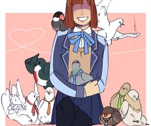 birds, yoshio akagi, and yuuya image