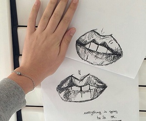 art, lips, and tumblr image