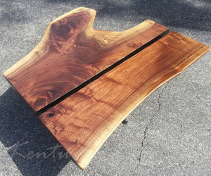 dark wood, etsy, and modern coffee table image