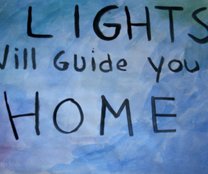 coldplay, lights, and blue image