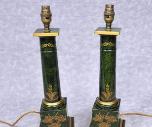 table lamp, antique lamp, and porcelain table lamp image