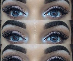 eyebrows, eyelashes, and eyes image
