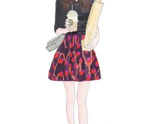 girl and wallpaper image