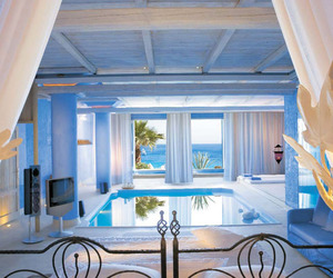 pool, bedroom, and design image