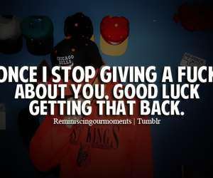 quote, !!!, and swag image